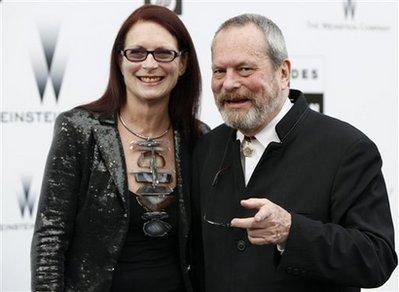 Gilliam e sua mulher, Maggie Weston