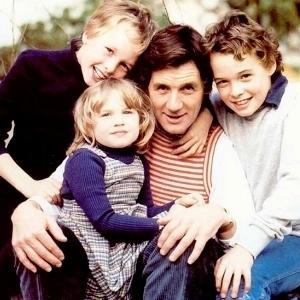 Palin e seus filhos Tom, William e Rachel