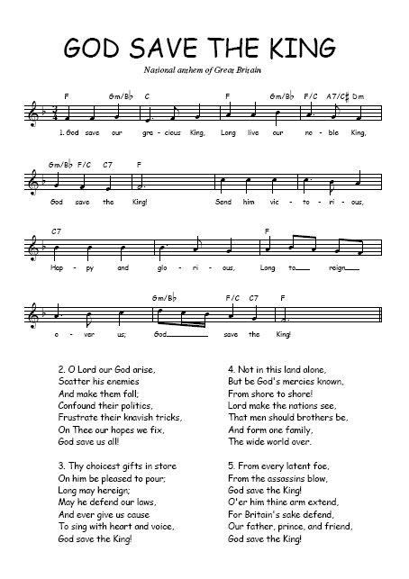 england - national anthem god save the king