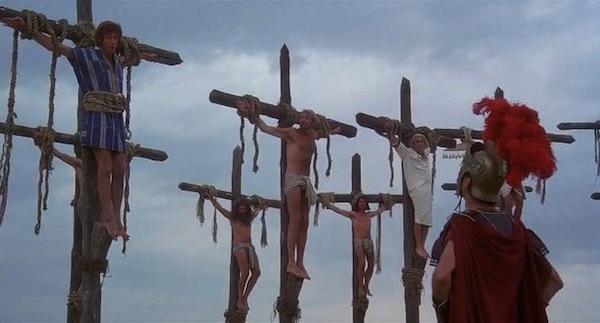 vida de brian monty python crucifixo